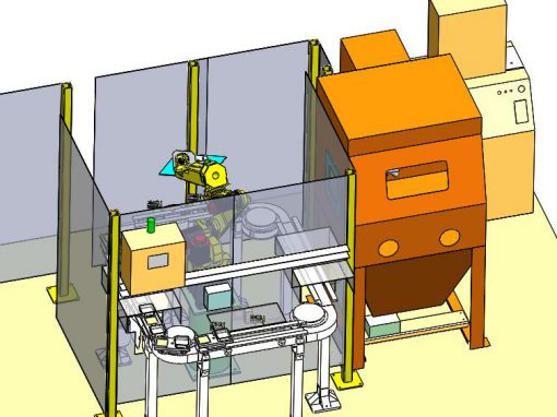Custom Designed Robotic Cell for Shot Blasting